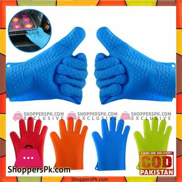 Non-Slip Silicone Hand Gloves Two Pcs