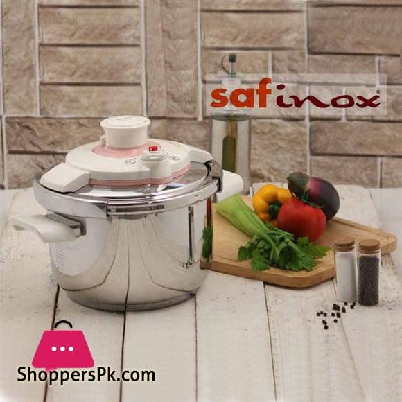 Saflon Safinox Klipso Stainless Steel InductionPressure Cooker 7 Liter