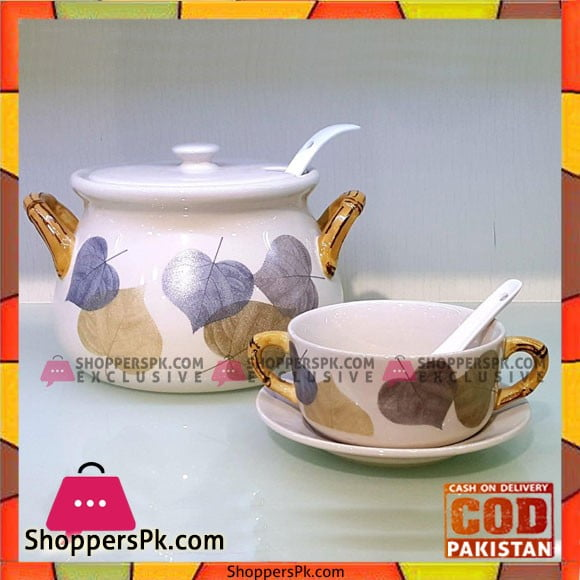 Solecasa Pot Style Soup Set - 21 Pcs - Ceramic