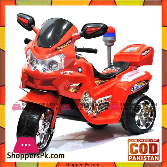 3 Wheels Electric Bike For Kids with Music, Horn, Headlights