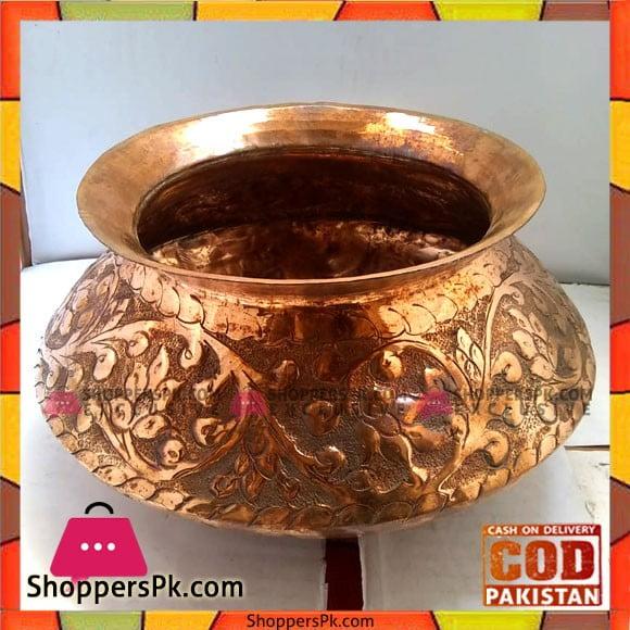 Best Quality Handicraft Original Copper Half Kg Serving Daig