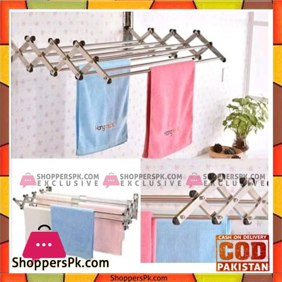 Easy Shop Aluminium Wall Cloth Dryer Stand 2.5 Feet
