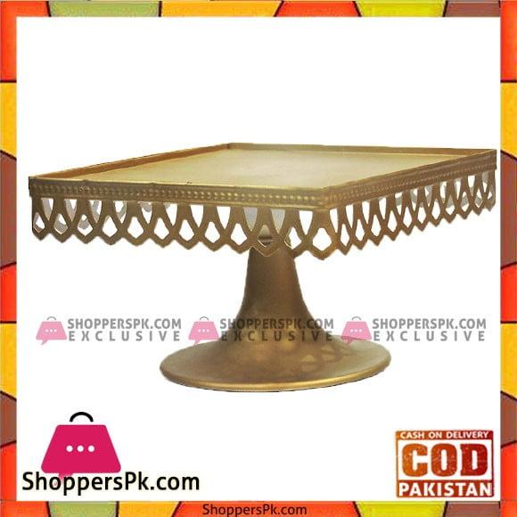 Golden Antique Design Cake Stand 9.5 Inches