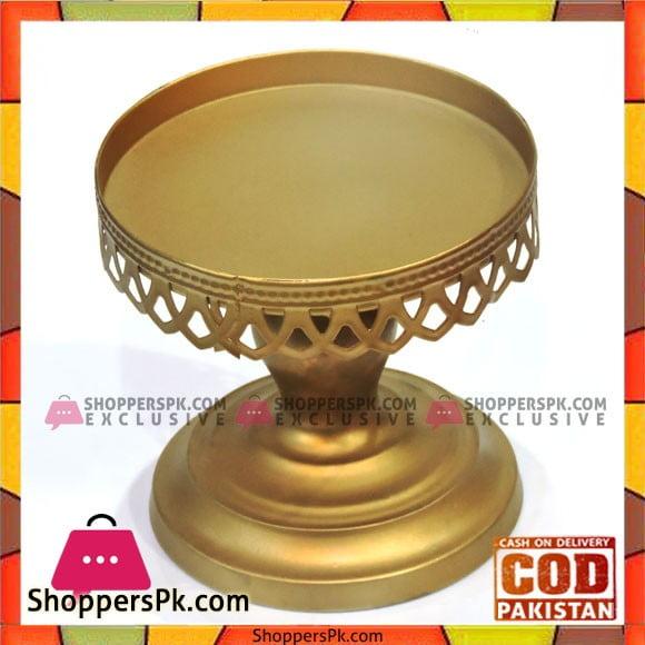 Golden Antique Design Cake Stand 6 Inches