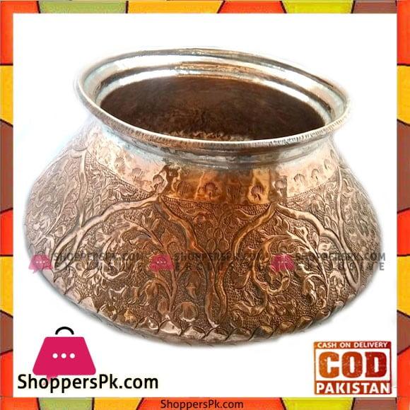 High Quality Handicraft Original Copper 5kg Serving Daig