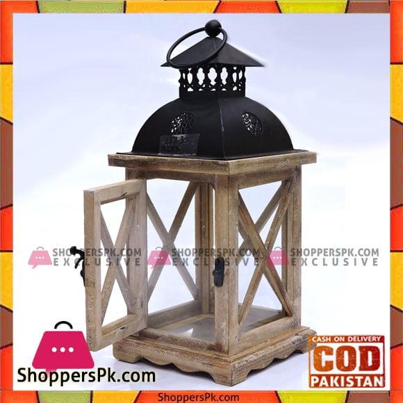 Home Decorative Wooden Lantern Candle Holder