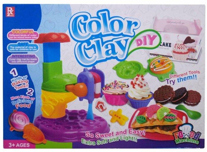 Kids Playing Color Clay Die