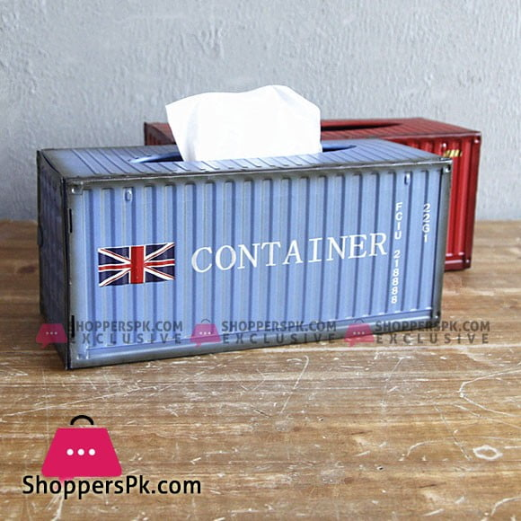 Mini Shipping Container Tissue Box That's Made From Actual Metal