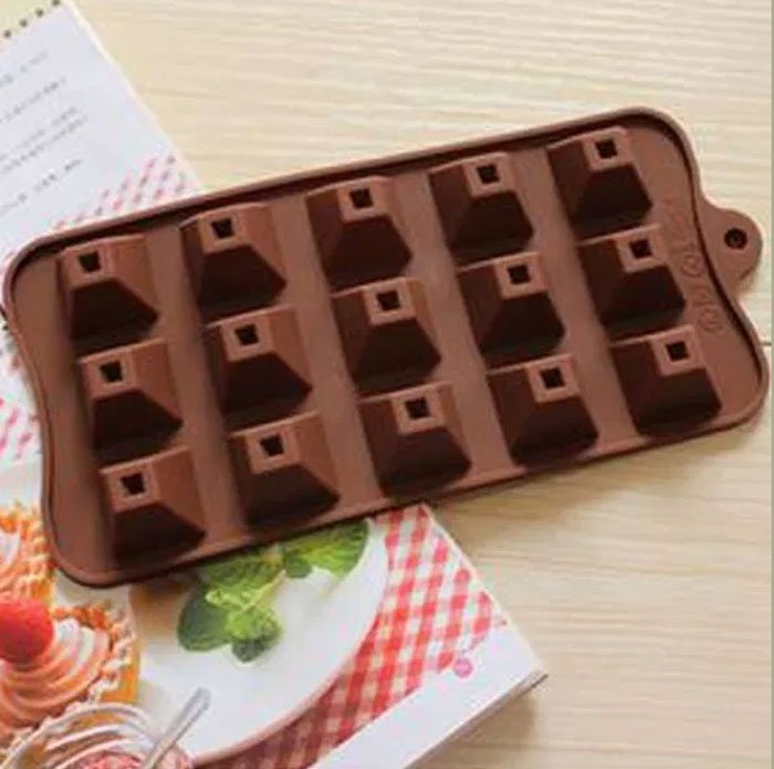 Silicone Pyramid Chocolate Mold