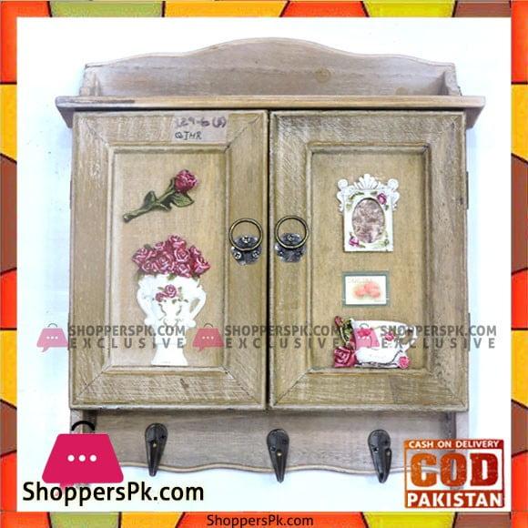 Wooden Key Cabinet Holder with Magnetic Door