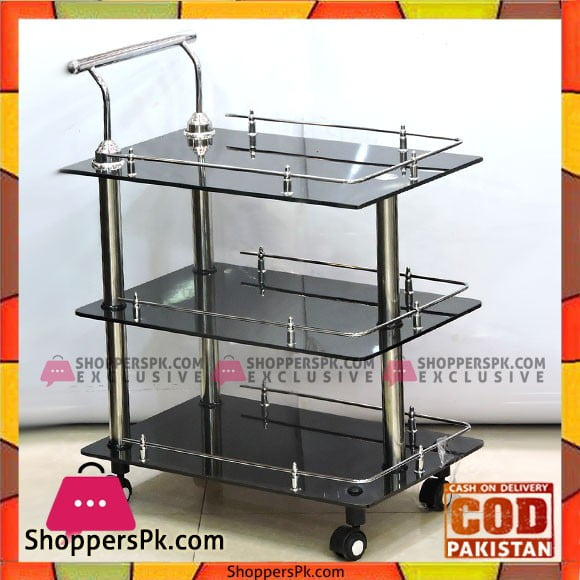 High Quality Classic Glass Style Tea Trolley