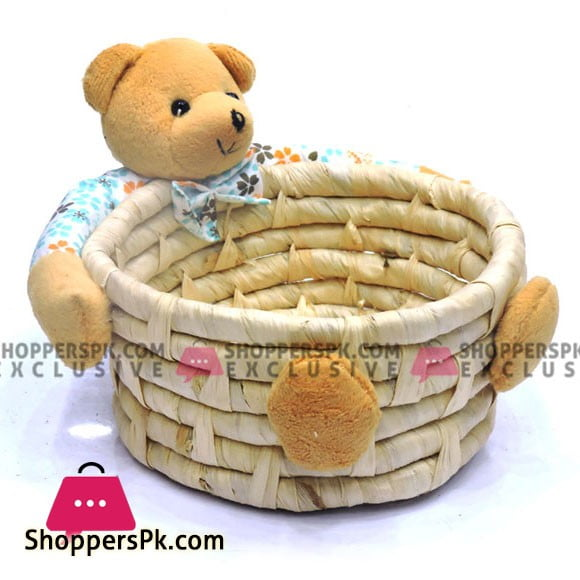 Home Decoration Bear Storage Basket 1 Pcs
