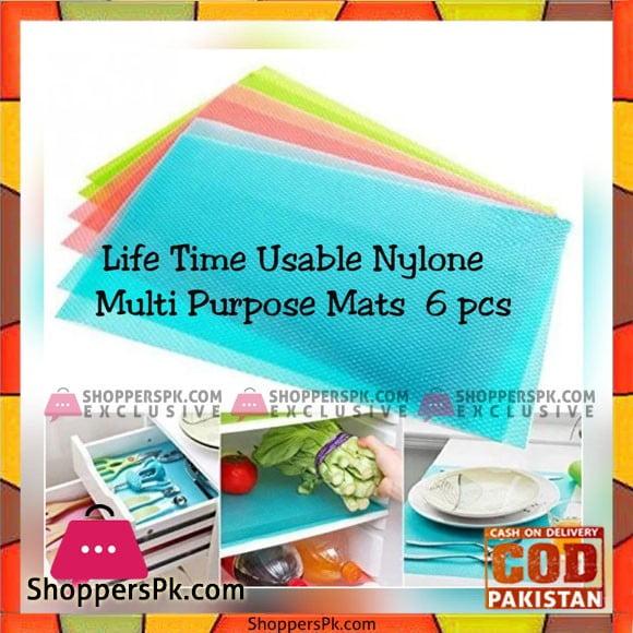 PVC Nylon 6 - Piece Mat Set - Multicolour