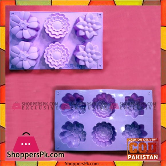 Silicone Cup Cake Flower Shape Mold