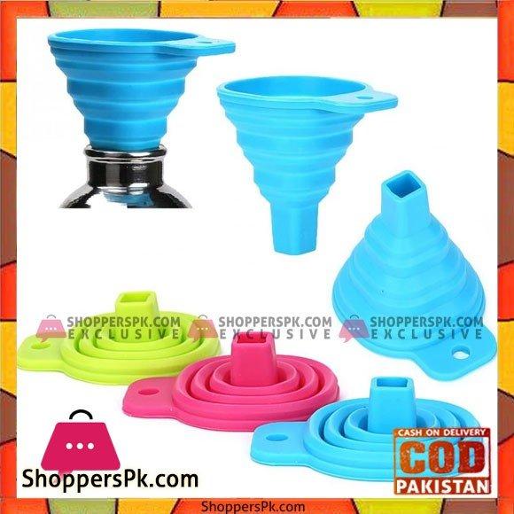 Silicone Foldable Funnel for Liquid Transfer 100% Food Grade Silicone 1- Pcs