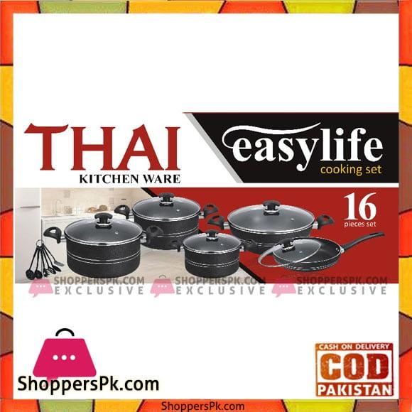 Thai Kitchen Ware Cooking Set 16 Pcs