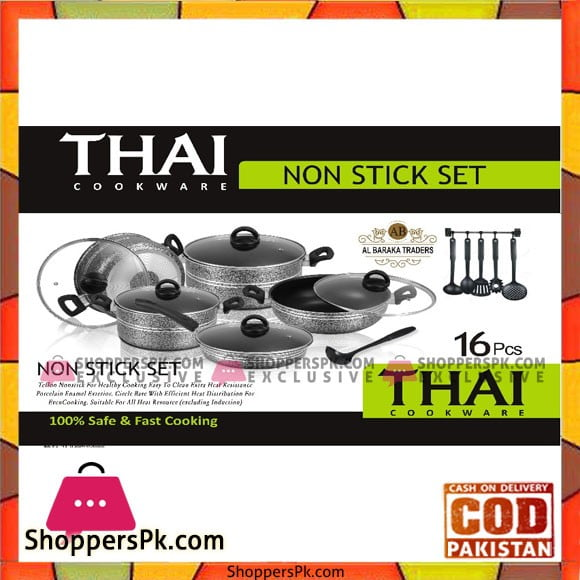 Thai Kitchen Ware Non Stick Cooking Set 16 Pcs