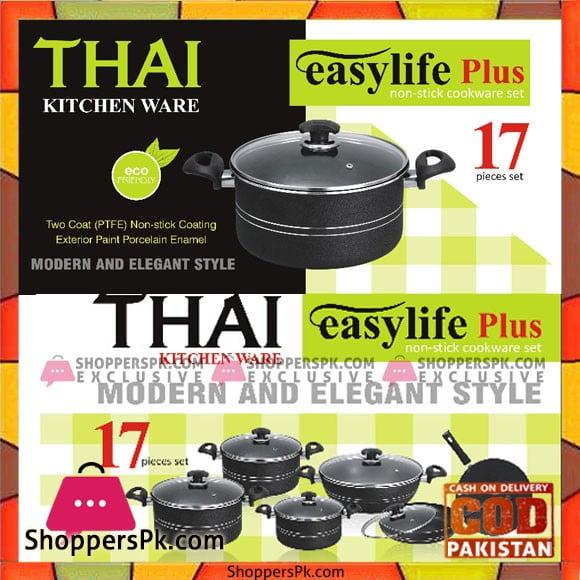 Thai Kitchen Ware Non Stick Cooking Set 17 Pcs
