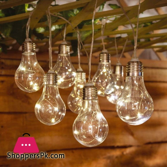 10 Bulb String Lights Indoor Outdoor Fairy Lights for Garden 8 Feet Length