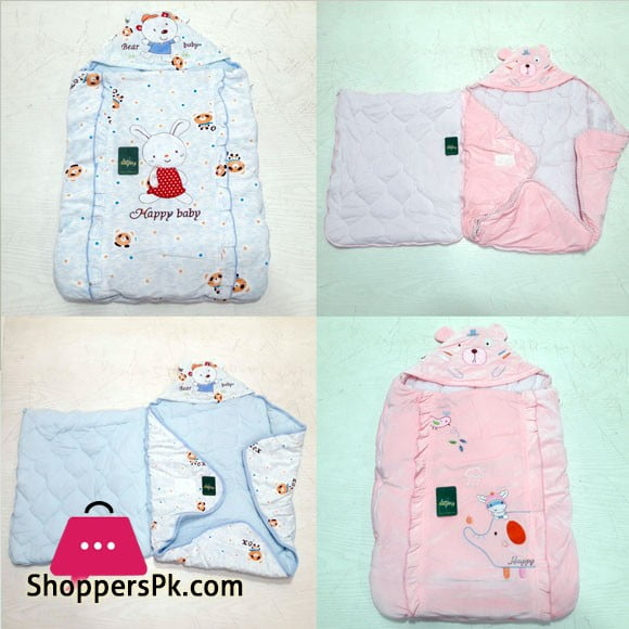 2 In-1 Hooded Baby Carry Nest & Wrapping Shawl - Random Design