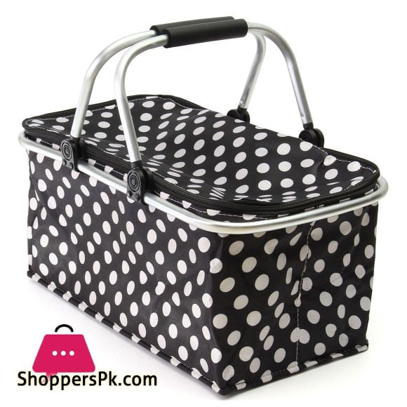 30L Large Thermal Insulated Lunch Picnic Basket Bag Cooler Camping Storage Box Lunch Bag