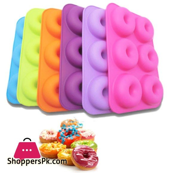 6-Cavity Silicone Donuts Molds