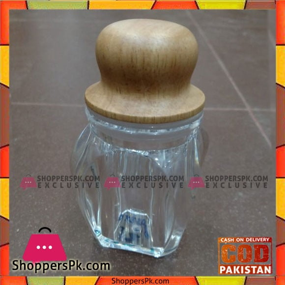 Acrylic Plastic Salt and Pepper Bottle With Wooden Top
