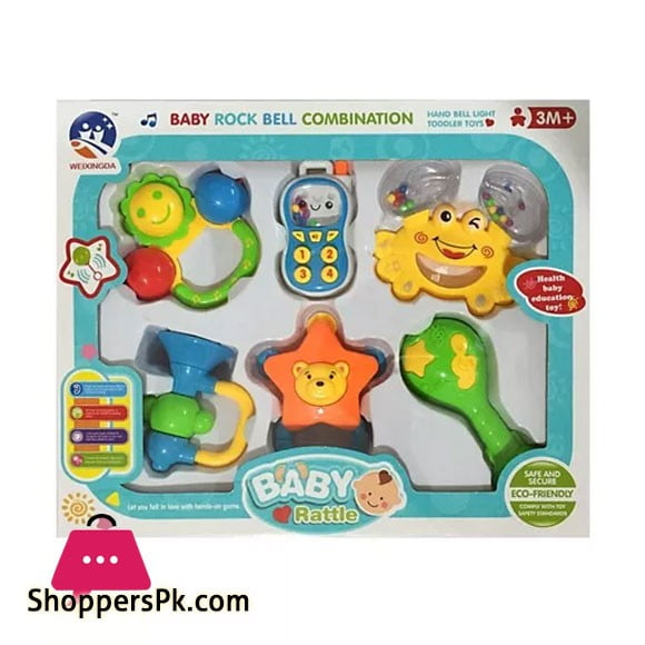 Baby Rattle Set Pack of 6