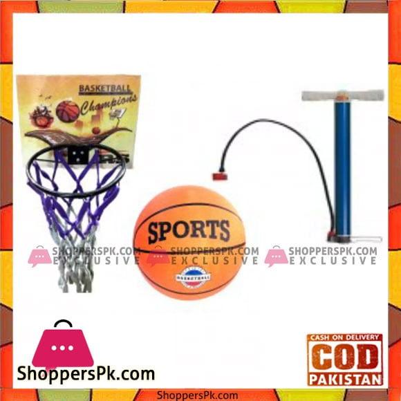 Basket Ball Basket Ball Hoop & Air Pump Pack of 3