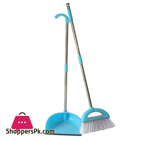 Broom and Dust Pan Collector Long Handle Brush