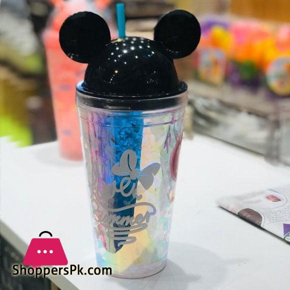 Cartoon Mason Jar with Freezing Gel for Juice Soft Drinks Plastic Mug (400 ml)