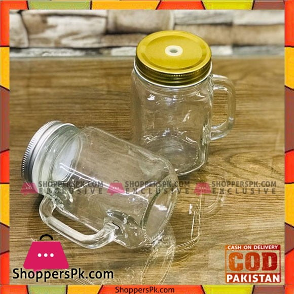 Clear Glass Plan Mason Jar - 1 Pcs