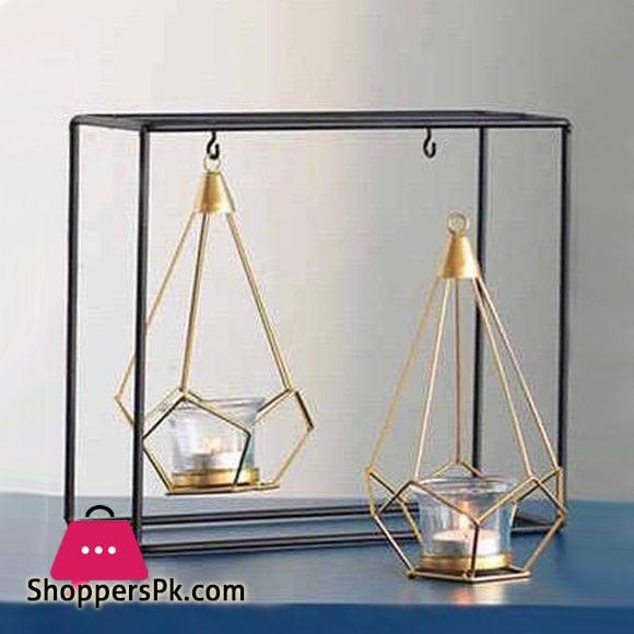 Hanging Rectangular Shaped Geometric Candle Holder