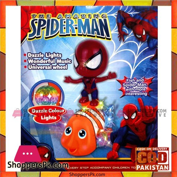 Kids Playing Fish and Spider Man Toy