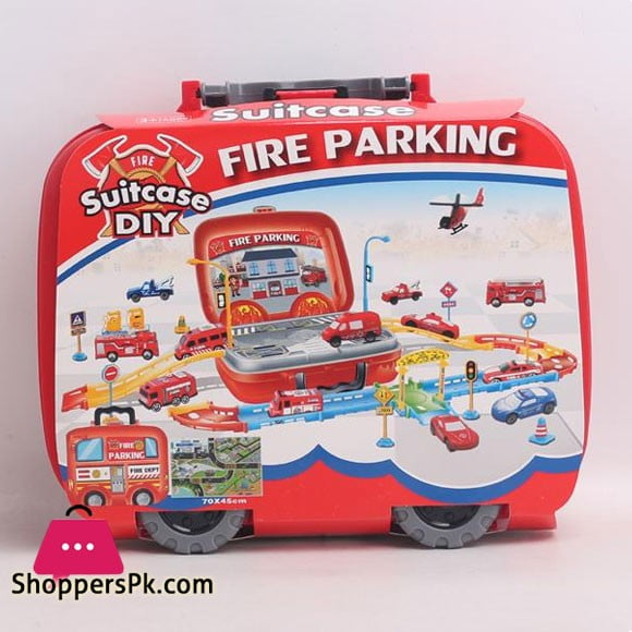 Kids Playing Fire Parking Suitcase Die