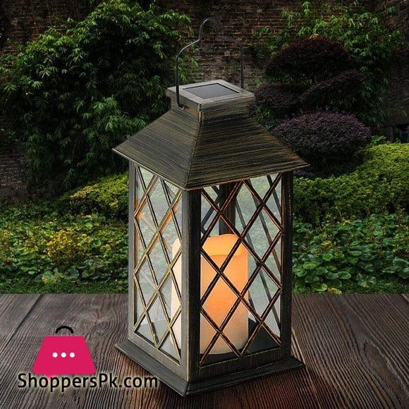 LED Lantern Light Rechargeable Garden Light Metal Waterproof Candle Light