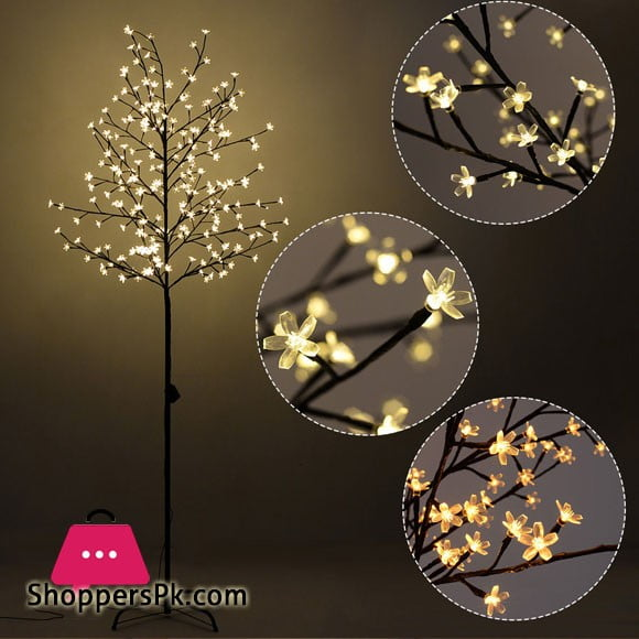 LED Tree Light Floor Lamp Home Decor Warm White