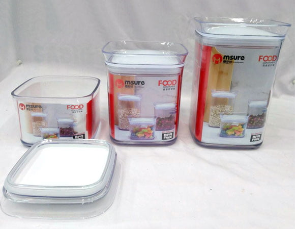 MSURE FOOD CONTAINER 3 PIECE SET