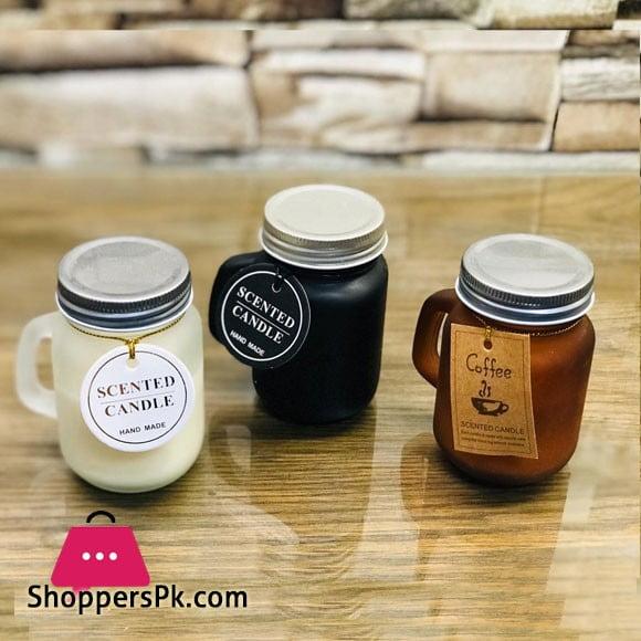 Mason Jar Glass Candle 1 - Pcs