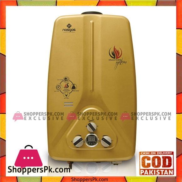 Nasgas 12 Liter Instant Geysers (GOLD) - Karachi Only