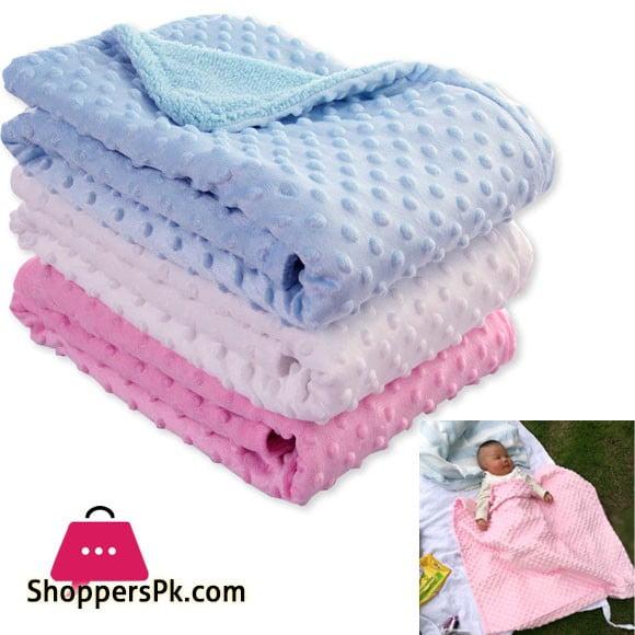 Newborn Baby Blankets Warm Fleece Thermal Soft Infant Bedding Swaddle Wrap Kids Bath Towel - Random Design