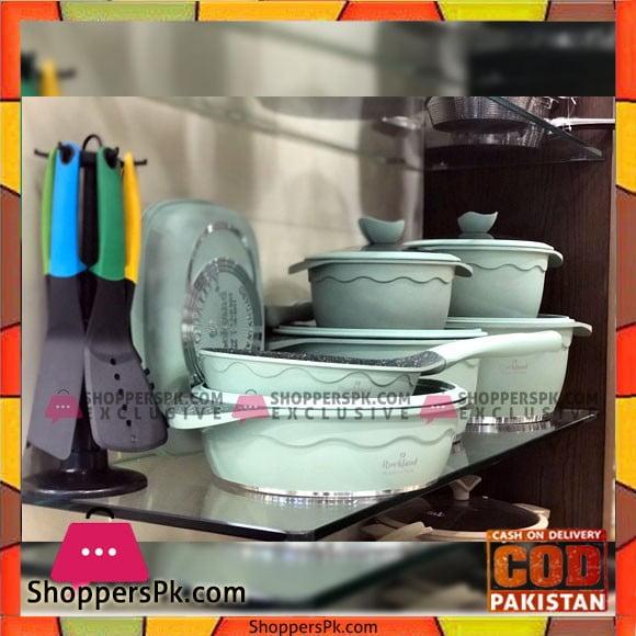 Rockland 24 Pcs Granite Cookware Set