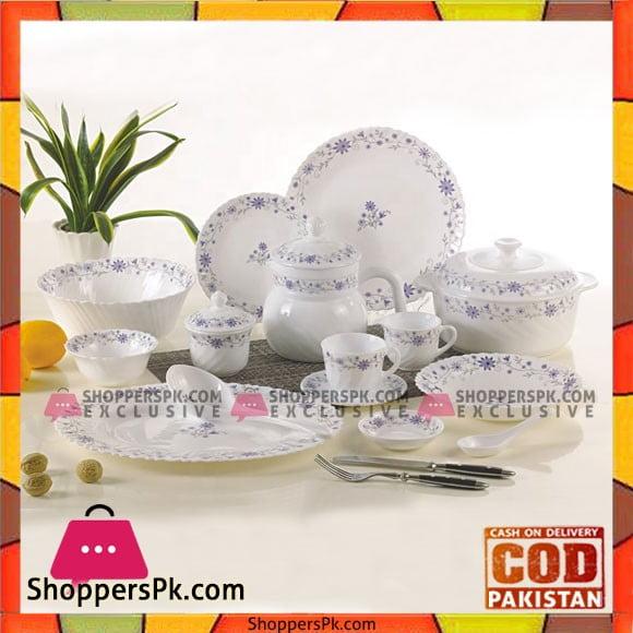Rockware Opal Marble Glass Dinner Set 72-Pcs