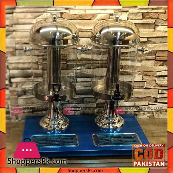 Stainless Steel Commercial Beverage Drink Dispenser Juice Dispenser Double 16-Liter -