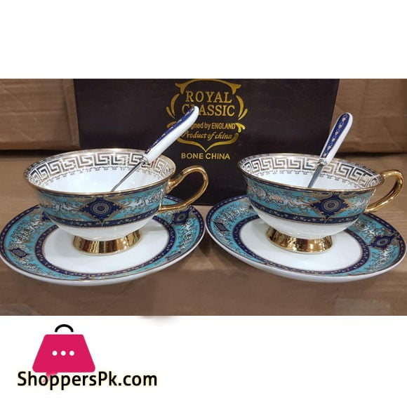 Versace European Bone China Coffee 2pcs Cup Set Luxury Retro Ceramic Cup and Saucer with Spoon