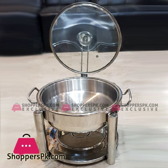 3 Liter Standard Oval Chafing Dish with Glass Lid