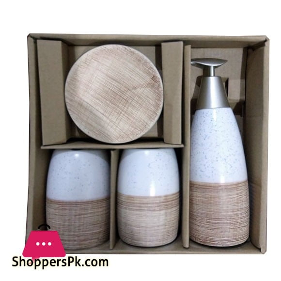 4Pcs Ceramic Bathroom Set B12