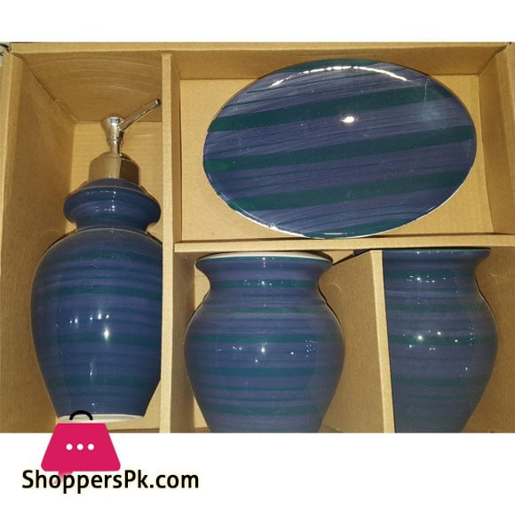 4Pcs Ceramic Bathroom Set B14