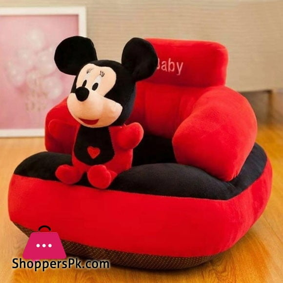 Babys Cute Mickey Mouse Cartoon Plush Toys Support Chair Infant Learning To Sit Removable & Washable Baby Soft Seats Sofa