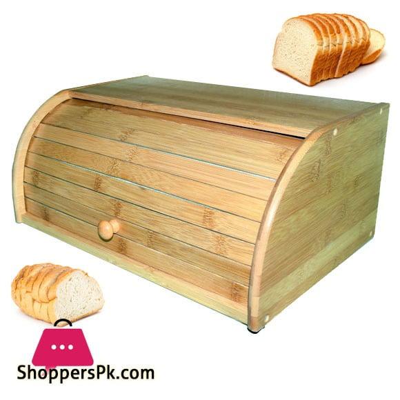 Bamboo Bread Box Rolltop 16 Inch